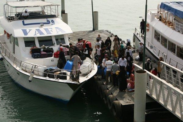 ترابری مسافران دریایی در بنادر قشم از 5.5 میلیون نفر سفر گذشت